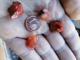 puntas cuarzo rojo - foto
