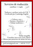 Traducción profesional castellano inglés - foto