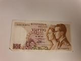 billete cincuenta franco belga 1966 - foto