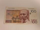 billete 100 francos belga - foto