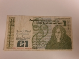 billete irlandes 1 lira - foto