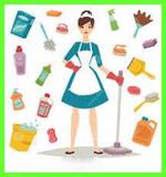 Cuidado de niÑos y limpieza del hogar - foto