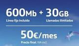 O2 Fibra y Móvil Tarifas 600MB/300MB   - foto