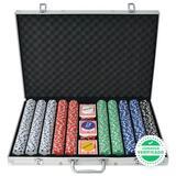 Juego póker 1000 fichas maletín aluminio - foto