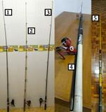 Cañas de pescar carretes y accesorios - foto