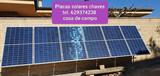 Placas solares con baterias de litio - foto