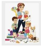 limpieza,cuidado de niños y mayores - foto