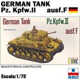 Maqueta german tank pz. kpfw.ii ausf.f - foto