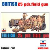 Maqueta artilleria british field gun 25p - foto
