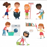 Limpiadora, limpieza del hogar. - foto
