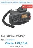 Emisora Marina VHF lowrance LVR-250 - foto