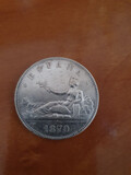 Moneda 5 pesetas 1870 - foto