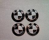 Pegatinas rueda BMW N-B fibra 64mm - foto