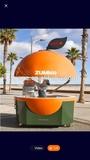 Kiosco móvil diseño fruta - foto