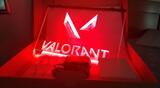 Cartel luminoso Valorant 3D - foto