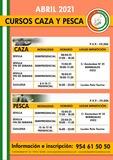 CURSOS CAZA Y PESCA ABRIL 2021 ONLINE