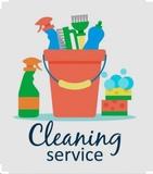 personal para limpieza, fin de obra. - foto