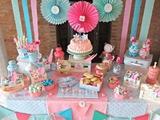 Mesa de dulces/chuches comunion niÑa - foto