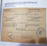 CERTIFICADO LICENCIA DIVISIóN AZUL. 1943