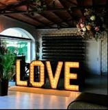 alquiler letras boda - foto
