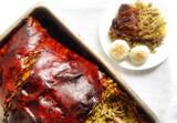 Lechona colombia y arroz chino (colombia - foto