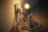 se reparan avería de electricidad - foto