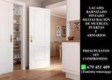 Puertas muebles lacado barnizado  - foto