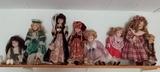 Lote 8 Muñecas de porcelana - foto