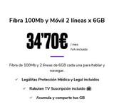 Fibra 100Mb y Móvil 2 líneas x 6GB - foto