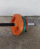 barra con discos 60 kgs musculacion - foto