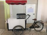 Bicicleta venta ambulante comida rápida - foto