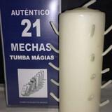 Velón 21 mechas blanco - foto