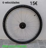 RUEDA TRASERA MTB: 26X1. 90|GURPIL| - foto