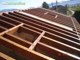 Tejados, estructuras de madera - foto