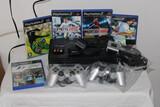 playstation 2 + 5 juegos + 2 mandos - foto