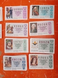 BILLETES DE LOTERíA NACIONAL AñOS 80/90