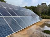 Placas solares fotovoltaica - foto