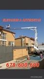 grua cesta plataforma elevar antenistas - foto
