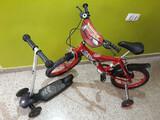 patinete y bicicleta niños - foto
