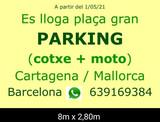Alquilo gran plaza parking: coche + moto - foto