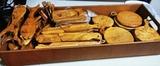 piezas madera de olivo - foto