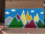 pintura mural artística. rotulación - foto