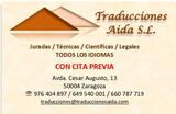 TRADUCCIONES JURADAS/CERTIFICADAS - foto