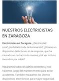 Electricistas Urgentes Zaragoza - foto