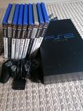 PlayStation 2 con MANDO y 10 JUEGOS - foto