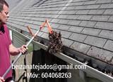 Limpieza de tejados en Costa da Morte - foto