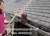 Limpieza tejados y canalones Santiago - foto