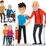 Cuidador/paseador de personas mayores - foto