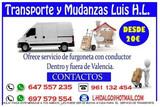 BIENVENIDOS MUDANZAS LUIS/DESDE 20 EUROS - foto