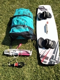 EQUIPO KITE NORTH 9 M,  BARRA Y TABLA - foto